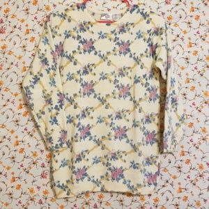 Vintage | Floral Rabbit Hair Sweater